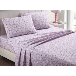 Kid's Swan Love Purple Sheet Set