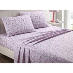 Kid's Swan Love Purple Sheet Set