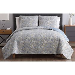 Morgan Home Fashions Sally Reversible Floral Quilt Set