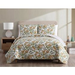 Morgan Home Janice Reversible Floral Quilt Set