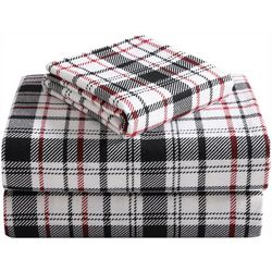 Morgan Home Fashions Geraldine Black & Red Flannel Sheet Set