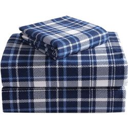 Morgan Home Fashions Geraldine Navy Flannel Sheet Set
