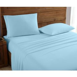 Morgan Home Fashions Geraldine Light Blue Flannel Sheet