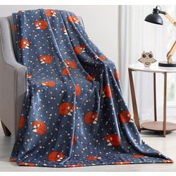 Morgan Home Fredrick The Fox Plush Throw Blanket