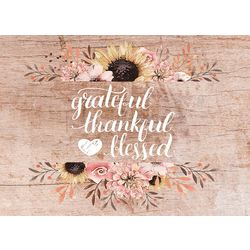 Morgan Home Grateful, Thankful, & Blessed 4-pk. Placemat Set
