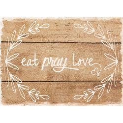 Morgan Home Fashions 4-pk. Eat, Pray, Love Placemat Set