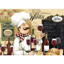 Morgan Home Fashions Chef & Wine 4-pk. Placemat