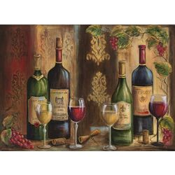 Morgan Home Red & White Wine 4-pk. Placemat