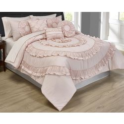 Morgan Home Jennifer 10-pc. Ruffled Comforter Set