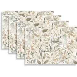 Morgan Home Fashions Family 4-pk. Placemat Set