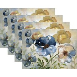 Morgan Home Fashions Blue Floral 4-pk. Placemat Set