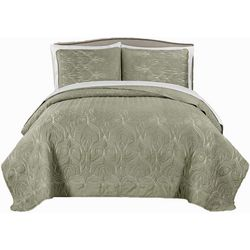 Morgan Home Genna Embroidered Quilt Set