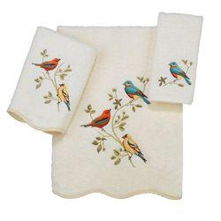 Avanti Premier Songbirds Scalloped Towel Collection