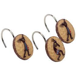 Kokopelli 12-pc. Shower Hooks