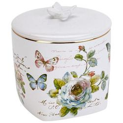 Butterfly Garden Covered Jar