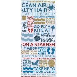Beach Words Printed Kitchen Towel
