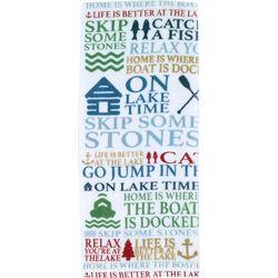 Avanti Lake Words Printed Kitchen Towel