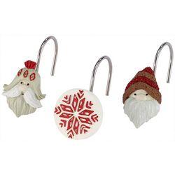 Avanti Christmas Gnome 12-pc. Shower Curtain Hooks