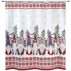Avanti Christmas Gnomes Shower Curtain