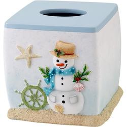 Coastal Snowman Tissue Box Cover