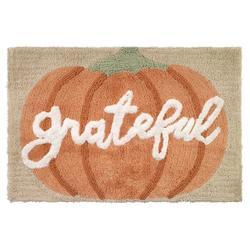 Grateful Patch Pumpkin Shower Curtain