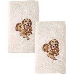Avanti Golden Retriever 2-pc. Hand Towel Set