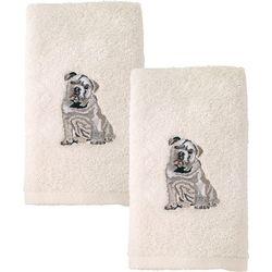 Avanti Bulldog 2-pc. Hand Towel Set