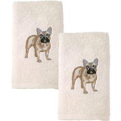 Avanti French Bulldog 2-pc. Hand Towel Set