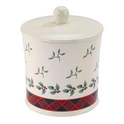 Spode Christmas Tree Tartan Jar