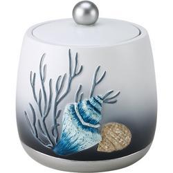 Blue Lagoon Covered Bathroom Jar
