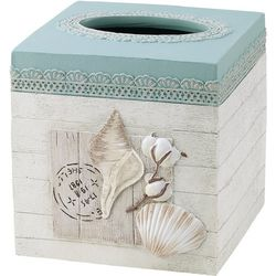 Avanti Farmhouse Shell Tissue Box Cover
