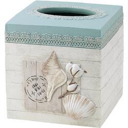 Farmhouse Shell Tissue Box Cover