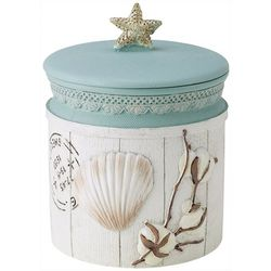 Avanti Farmhouse Shell Covered Bathroom Jar