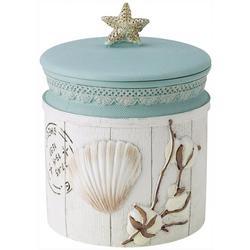 Farmhouse Shell Covered Bathroom Jar