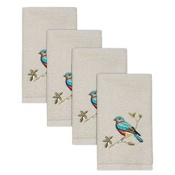 Avanti Gilded Birds Hemmed 4-pc. Fingertip Towel Set