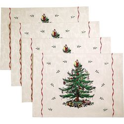 Avanti 4-pk. Spode Red Tree Placemats