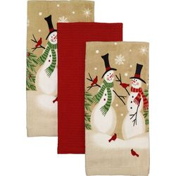 Avanti 3-pc. Tall Snowmen Kitchen Towel Set