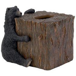 Avanti Black Bear Lodge Tissue Box Cover