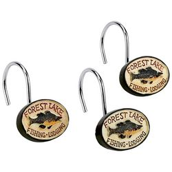 Avanti Rather Be Fishing 12-pc. Shower Hooks