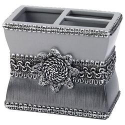 Avanti Granite Braided Medallion Toothbrush Holder