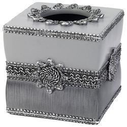 Granite Braided Medallion Tissue Box Cover