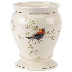 Avanti Gilded Birds Wastebasket