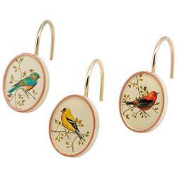 Gilded Birds 12-pc. Shower Curtain Hooks