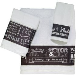 Avanti Chalk It Up Towel Collection
