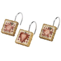Avanti Hearts & Stars 12-pc. Shower Hooks