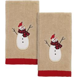 Snowmen Gathering 2-pc. Fingertip Towel Set