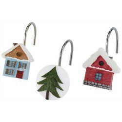 Avanti Christmas Village 12-pc. Shower Curtain Hooks