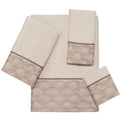 Avanti Deco Shell Ivory Towel Collection
