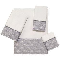 Avanti Deco Shell White Towel Collection