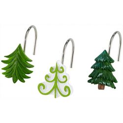 Avanti Christmas Trees 12-pc. Shower Curtain Hooks